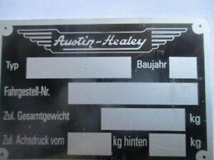 Id Nameplate Austin Healey 3000 Sprite Shield S55