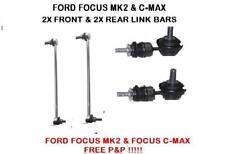FORD FOCUS MK2 & FOCUS C-MAX FRONT & REAR ANTI ROLL BAR STABILISER DROP LINK X2