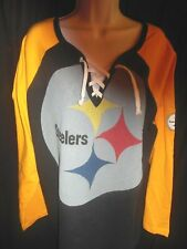 Pittsburgh Steelers NFL Women's Majestic Plus Size Lacer Shirt 1X,2X or 3X
