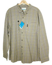 Columbia Mens Out and Back Long Sleeve Button Down Shirt Checkered XL NWT