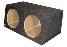 "Dual 12 inch Sub Woofer Box Sealed Hatch Back Speaker Enclosure 3/4"" MDF 1.75 Cu"