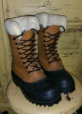 J CREW LEATHER WATERPROOF DUCK HUNTING BOOTS MENS 7 M WOOL LINED HIPSTER WINTER