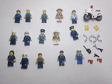 15 LEGO® Police minifig lot cop ranger trooper officer men town female bike