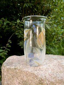 malerische alte Design Vase Vera Walther 16 cm Blumenvase signierte Handarbeit