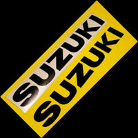 Suzuki GLOSS BLACK sticker srad decal 750 gsxr rm250 600 gs500e V-Strom drz 1000