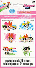 POWERPUFF GIRLS TEMPORARY TATTOOS (4 sheets) ~ Birthday Party Supplies Favors