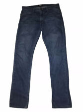 Paige Lennox Blue Denim Slim Fit Zip Up Jeans Mens Sz 32 x 32 Made In USA