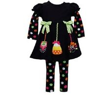 Bonnie Jean Girls Halloween Owl Candy Spider Fall Dress Outfit Size 2T New