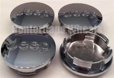"""(SET OF 4) Jeep Grand Cherokee 2.5"""" CHROME CENTER CAPS Fits: 2007-2020 YEARS"""
