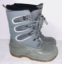 LL Bean womens Size 6 lined waterproof rain snow boots Blue Insulated