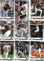 2019 Topps Series 1 Baseball Chicago White Sox Team Set of 9 Cards