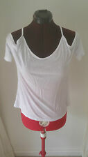 SIZE 6 WOMEN'S WHITE SHORT SLEEVE 'MISS SHOP' TOP BNWOT
