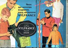 PUBLICITE ADVERTISING 096  1961  Nylfrance (2p) nylon vetements ski Murray Smith