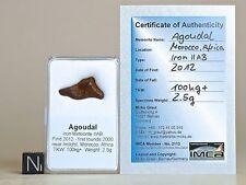 Meteorit AGOUDAL Eisenmeteorit + Zertifikat Sternschnuppe Geschenk Glücksbringer