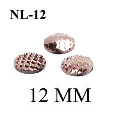 40 pcs Gold Plating AB Resin Mermaid Scale 12 MM Flatback Jewelry DIY Scrapbook*