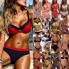 d394f39ca5354 2018 Padded Bikini Set Swimsuit Women Bandage Push-up Triangle Swimwear  Bathing