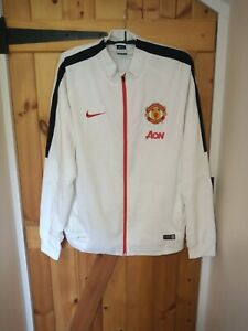 """MANCHESTER UNITED WHITE TRACKSUIT TOP BY NIKE SIZE XXL 50/52"""" - NEW"""