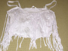 FRINGED  cami   'SUPRE' SINGLET TOP. SIZE L . BNWT (d50 )