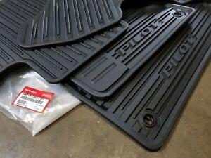 16-21 Honda Pilot All Weather Rubber Floor Mat Set New Genuine OEM 08P17-TG7-101