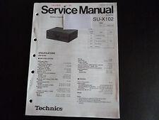 Original Service Manual  Technics Amplifier SU-X102