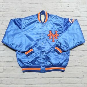 Vintage 90s New York Mets Satin Jacket by Felco Size XL Made in USA
