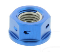 Pro-Bolt Universal Motorcycle Sprocket Nut Drilled Blue M10 x 1.25 mm Aluminium