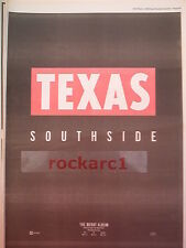 TEXAS Southside 1989 UK Poster size Press ADVERT 16x12""