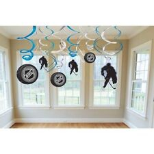 Amscan Sports & Tailgating NHL Party Ice Time Swirl Decorations (12 Pack), .