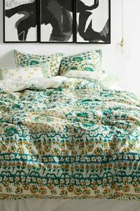 New 3 pc Anthropologie Camina Queen Duvet Cover & Two Standard Shams