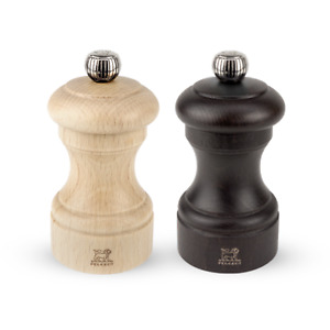 Peugeot Bistro Wood Salt and Pepper Mill Set, 4-Inches