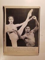 Press Photo AP Wire Press Laserphoto Cowboys Herschel Walker Ballet 4/10/88