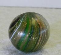 #12637m German Handmade Onionskin Lutz Marble Heavy Lutz .63 Inches