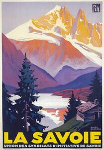 TX182 Vintage La Savoie Alps Winter French France Travel Poster Re-print A3