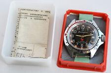 RUSSIAN MILITARY WATCH VOSTOK 3AKA3 MO CCCP USSR SOVIET Komandirskie Box & Paper