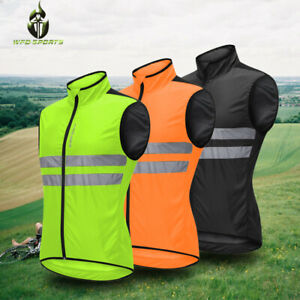 Cycling Gilet Reflective Vest High Visibility Windproof Bike Jacket Breathable