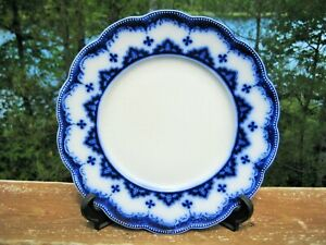 ANTIQUE FLOW BLUE PLATE W.H.GRINDLEY ASTRAL c 1904 STAFFORDSHIRE ENGLAND