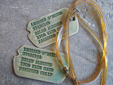 WWII US Next of Kin Pasadena California dog tags ID soldier A21