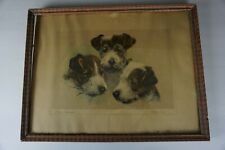 Antique Framed signed Kurt Meyer-Eberhardt HandColored Print THREE RASCALS 13x17