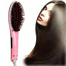 Electric Fast Hair Straightener Brush Irons Ceramic Comb w/LCD Display 110-220V