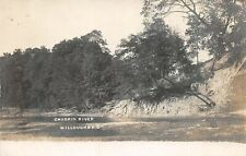 F66/ Willoughby Ohio RPPC Postcard c1910 Chagrin River Scene Bank