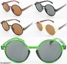 Circle Large Round 60's Sunglasses Hippie Steampunk Frames Mens Women's