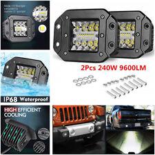2x 240W Flush Mount Work Light Pods 5In CREE LED  SUV UTE Bumper Reverse Lamps