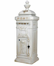 Briefkasten weiss Postkasten Landhausstil Stadbriefkasten Postbox freistehend