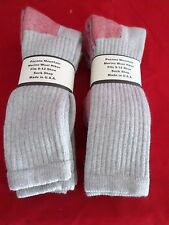 4 Pair Pocono 75% Merino Wool Over the Calf Socks 9-12  Red Foot Made in USA