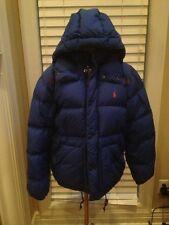 Polo Ralph Lauren Cobalt Dark Blue Down Puffer Jacket Removeable Hood coat Small