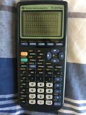 New listing Texas Instruments Ti-83 Plus Calculator Missing 1 Pixel Row Nice w Battery Cover