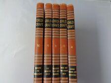 Lot of 5 Childcraft 1949 books v  HB vintage childrens