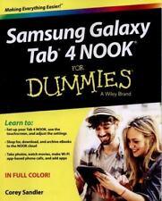 Samsung Galaxy Tab 4 NOOK For Dummies Sandler, Corey Paperback Used - Good