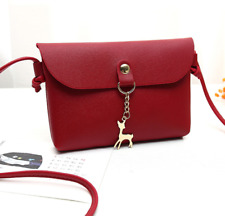 Reindeer Chain Mini Leather Sling Bag (Red)