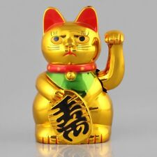 """5"""" Chat Chinois Porte-bonheur a Bras Mobile -Style Lucky Cat"""